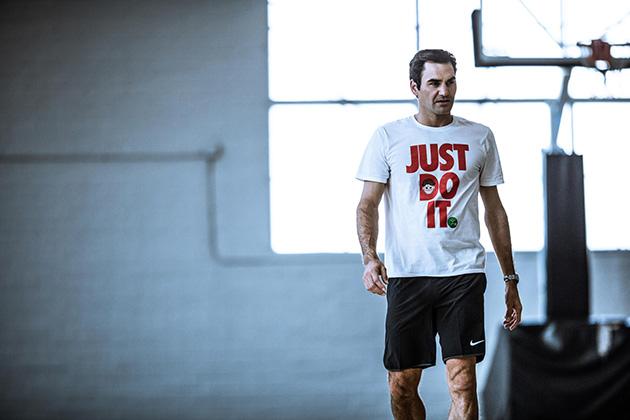 Details on Roger Federer emoji shirts by Nike, artist