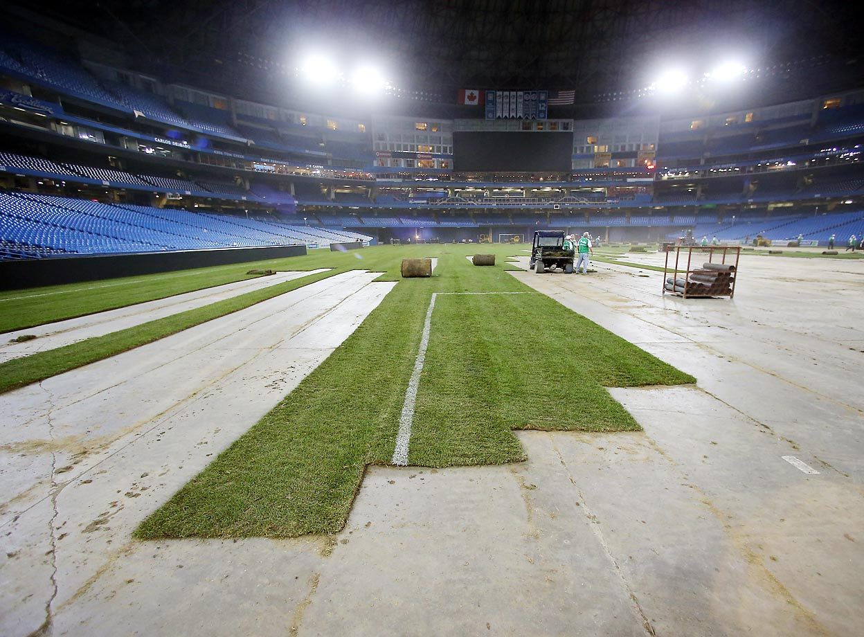 Brazil played Chile at Rogers Centre in Toronto on Nov. 19, 2013.