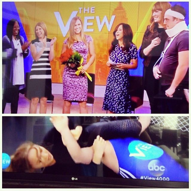 Had so much fun on @ABCtheView today! Pic via @fightfan204                           Styled by @alejandroperazastyle                            Hair @dpucciarello                            Makeup @mariko_hirano