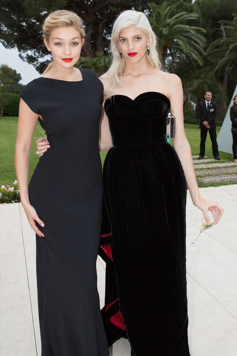 With Devon Windsor at the amfAR Gala