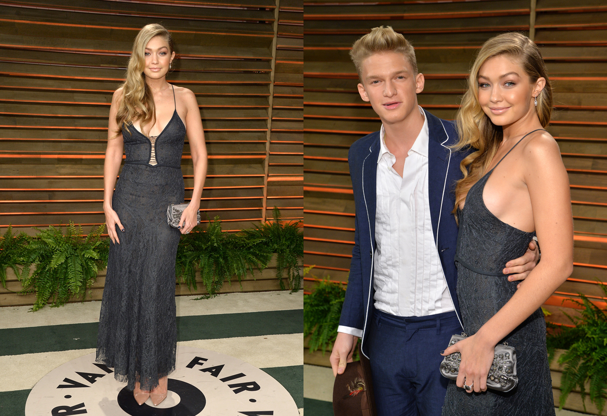With Cody Simpson at the Vanity Fair Oscar Party