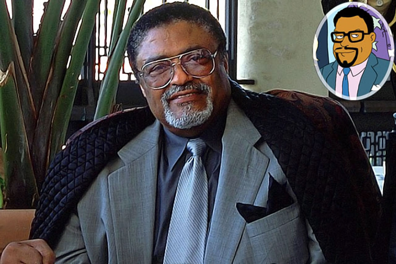 Memorable Moment — Having not been to church yet, Ned Flanders is directed to 'Rosey Grier's Porta-Chapel,' where several people have gathered to hear a sermon. Rosey: ''And that the wandering Oakland Raiders may someday find a home, Lord, hear our prayer. Can I get an amen to that?'' Congregation: ''Amen!''