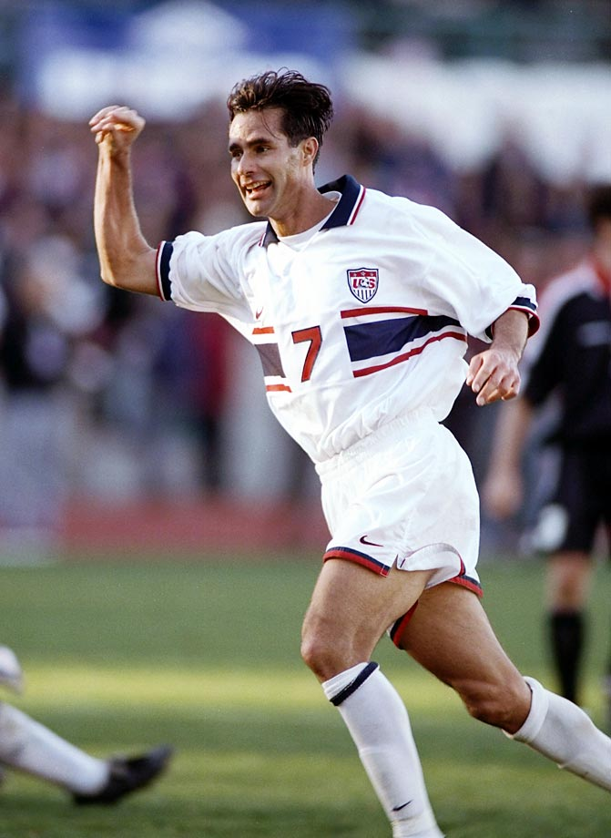 Roy Wegerle, who hails from Pretoria, South Africa, debuted for the USMNT against Iceland.  He competed in both the 1994 and 1998 World Cups.
