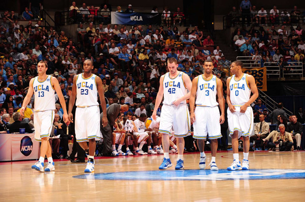 2008 NCAA West Regional Playoffs (James Keefe, Luc Richard Mbah a Moute, Kevin Love, Josh Shipp, and Russell Westbrook)