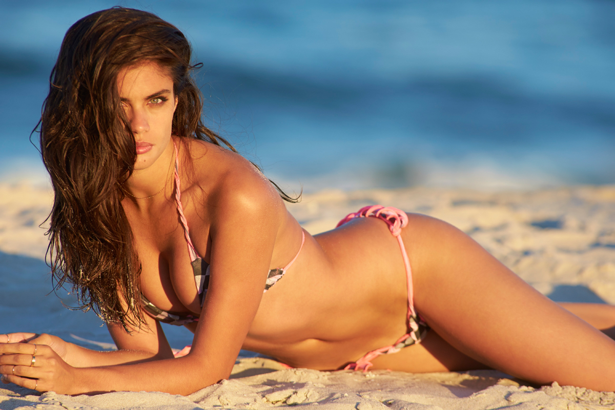 Sara Sampaio at the Jersey Shore, SI Swimsuit 2014