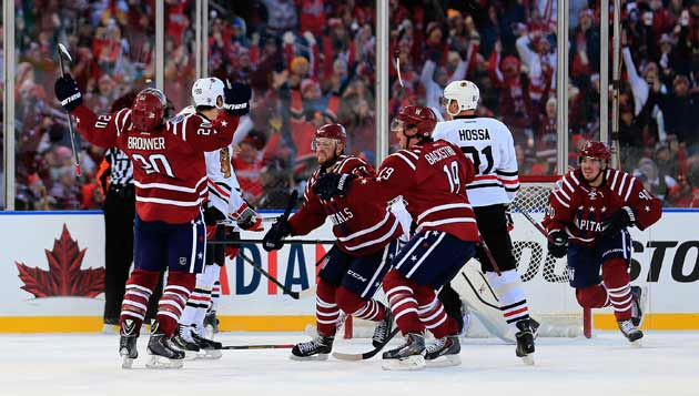 Classic finish: Troy Brouwer proved to be the hero in the final ticks of regulation.