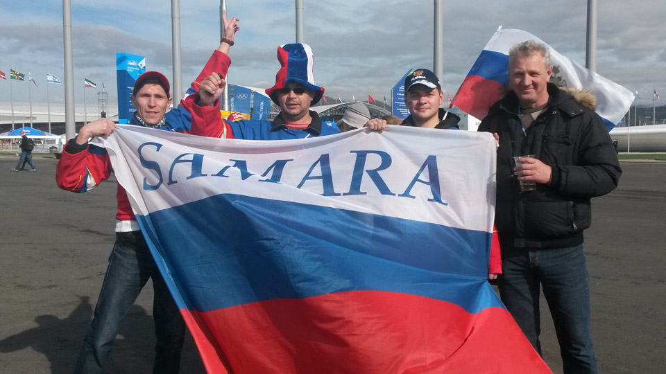 Fans from the Russian town of Samara have loved the entire experience of the Olympics.