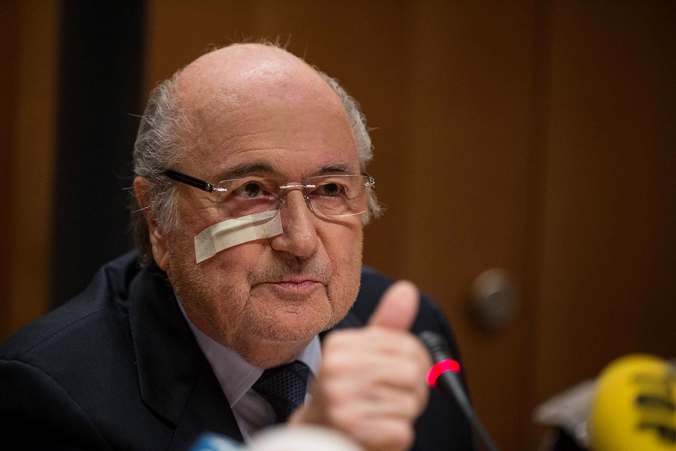 FIFA's suspended (and apparently roughed up) president Sepp Blatter says that he will fight his eight-year ban.