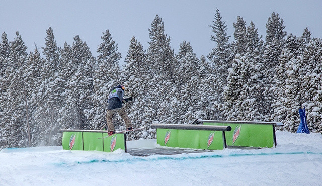 Seppe Smits in the men's slopestyle finals.