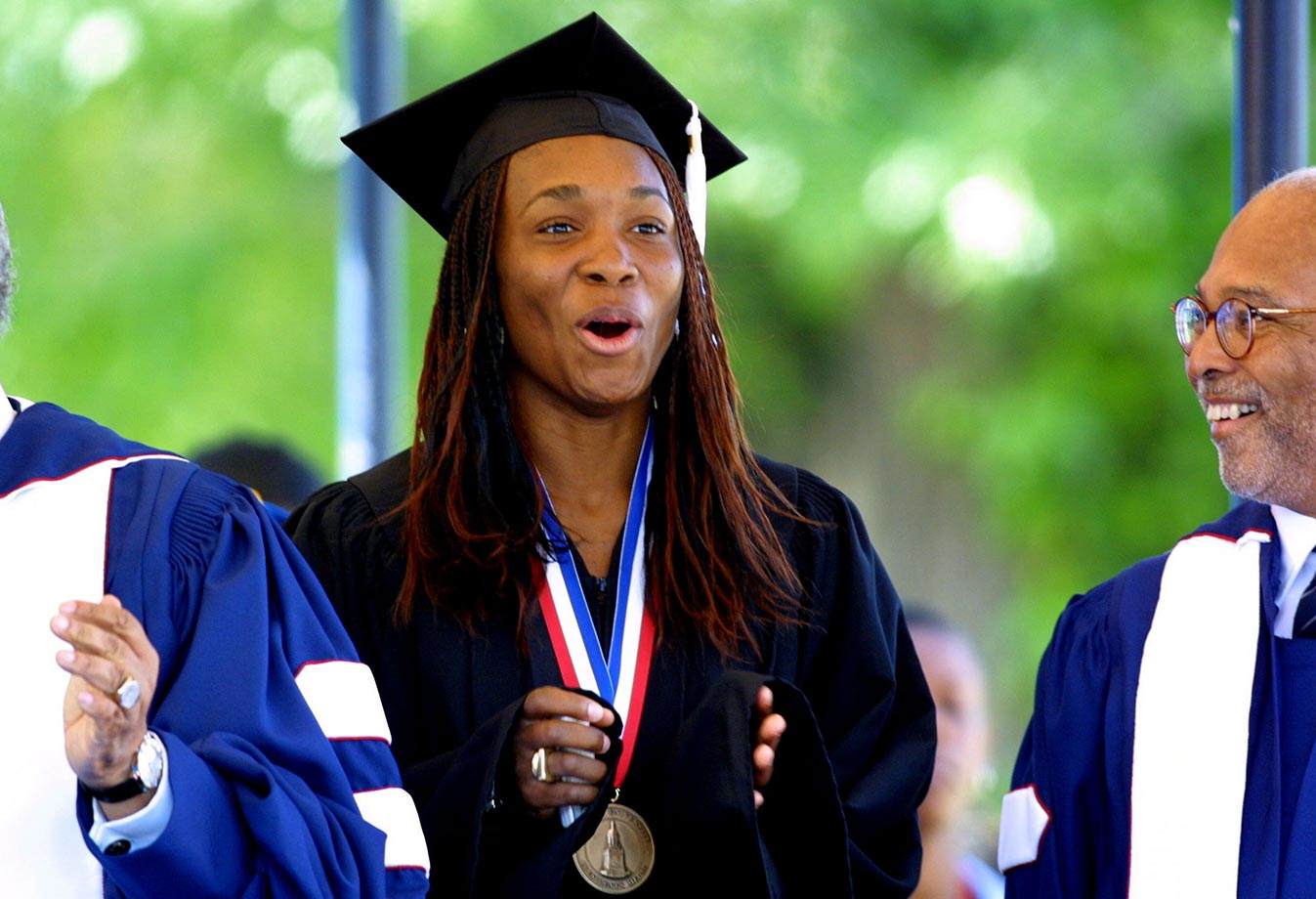 Venus Williams received an Honorary Degree of Citation of Achievements from Howard University. She was so moved by the gesture that she reportedly began to cry during her speech in front of the 2002 graduating class.