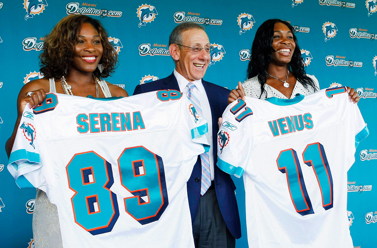 The Williams sisters became limited ownership partners of the Miami Dolphins as well in Aug. 2009.
