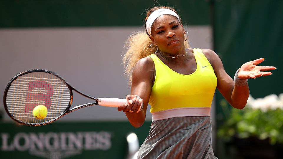 Top-ranked Serena Williams hasn't played since a surprising second-round loss at the French Open.