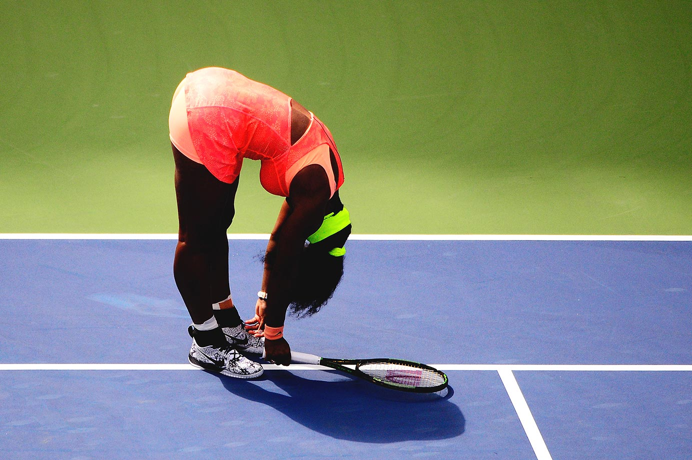 Serena Williams during her match against Roberta Vinci in the semifinals of the U.S. Open.