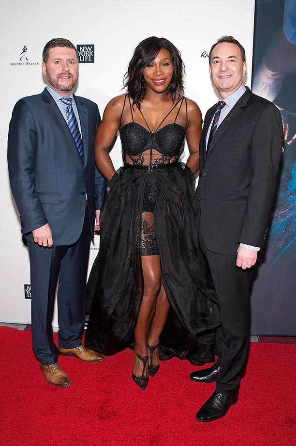 Publisher of Sports Illustrated Brendan Ripp, SI 2015 Sportsperson of the Year Serena Williams and Time Inc. Sports Group Editor Paul Fichtenbaum.