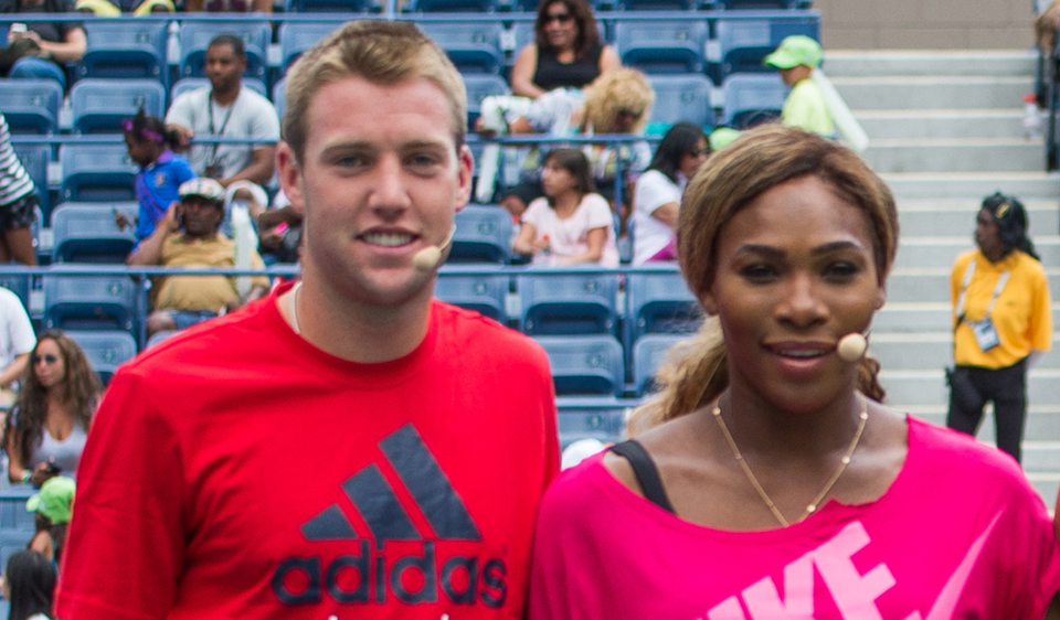 Jack Sock and Serena Williams at the U.S. Open in August.