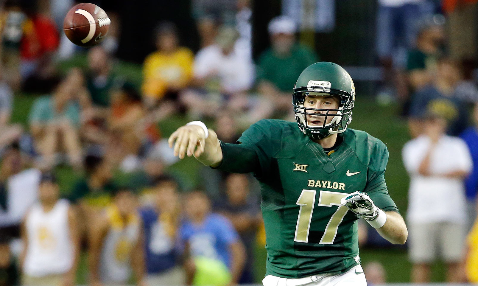 Russell is the likely successor to Bryce Petty as the leader of the Bears' offense. He's shown flashes of his talent in the past—the rising junior threw for 438 yards in Petty's absence against Northwestern State last season—and his running ability should help keep Baylor's offense as explosive as it always has been under Art Briles.
