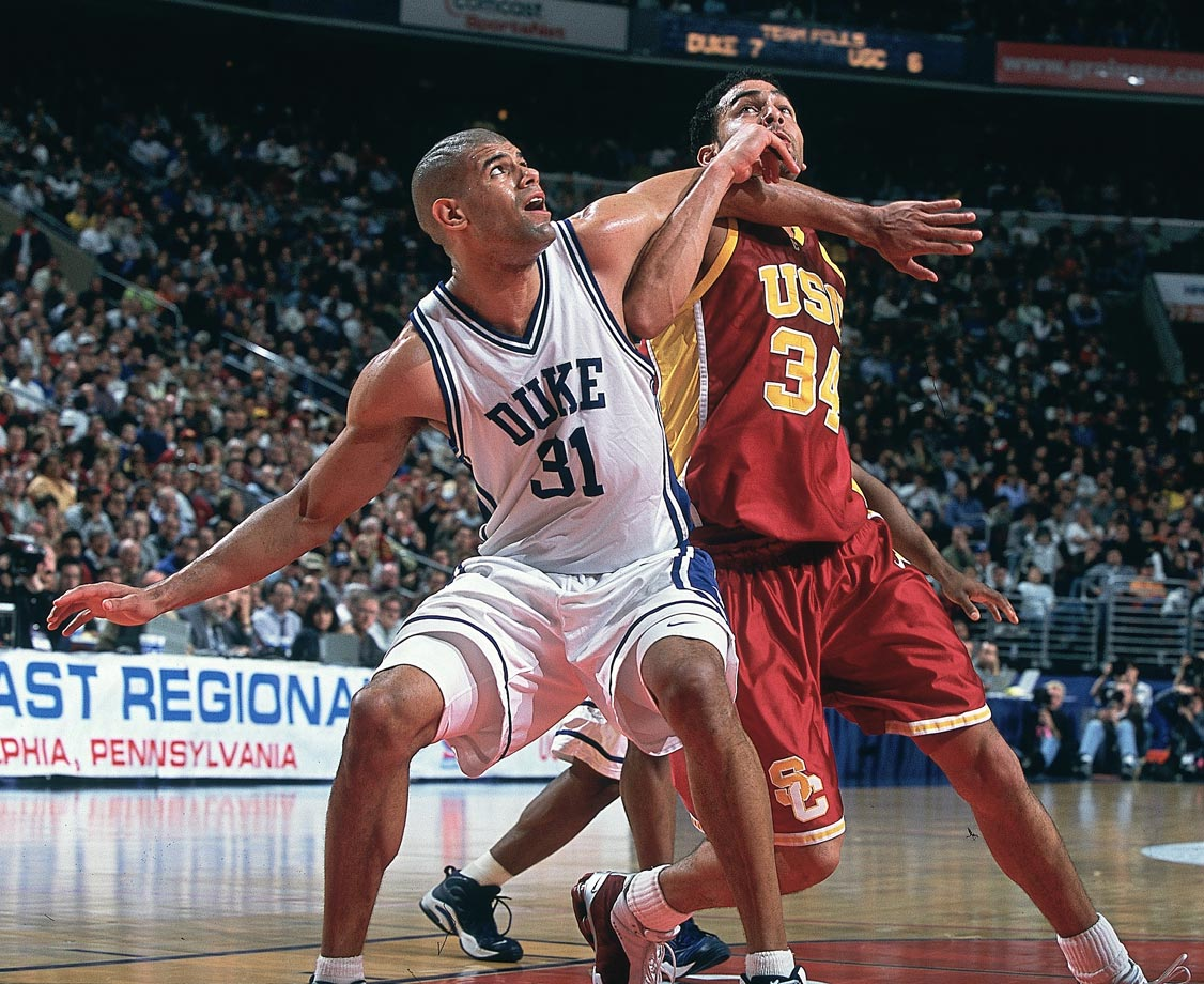 "Shane Battier (1997-2001): The 1997 Mr. Basketball in the state of Michigan went on to become one of Duke's best players, and one of the school's most respected alumni in the NBA. He was a fan favorite in Cameron -- because of his penchant for taking charges, the crowd would chant, ""Who's your daddy? Battier!"" After losing to UConn in the Final Four in 1999, Battier and Duke returned to beat Arizona in 2001 for a national title. Along the way, Battier swept the national player of the year awards. He was also a three-time defensive player of the year and a two-time Academic All-America."
