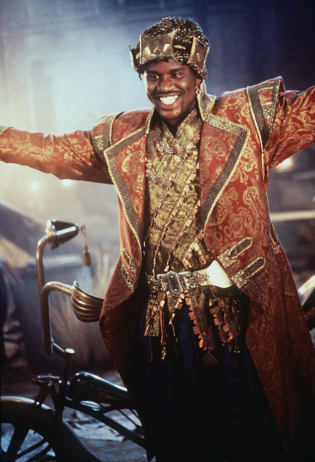 "A man of many talents, the 15-time NBA All-Star parlayed his basketball fame into several movie roles. Shaq played Neon in ""Blue Chips,"" who accepts a Lexus to play for Western University, and took the title role in ""Kazaam,"" a family film about a 5,000-year-old genie who grants a boy three wishes. Even Shaq's notoriety could not rescue ""Kazaam,"" which was critically panned and grossed less than $19 million at the box office. Since retiring from basketball, Shaq has acted in several Adam Sandler films, including ""Blended"" and ""Grown Ups 2."""