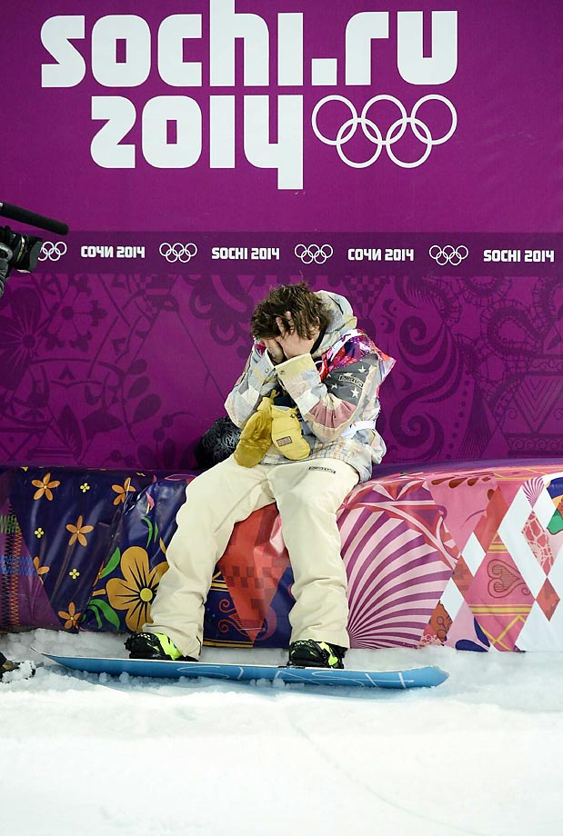Shaun White after the Halfpipe finals.