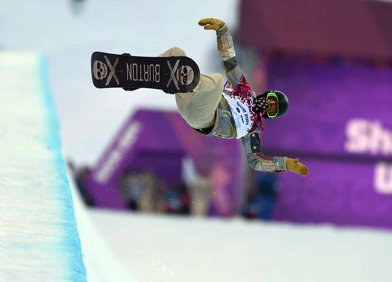 Shaun White sets out to threepeat in the halfpipe. He finished fourth.