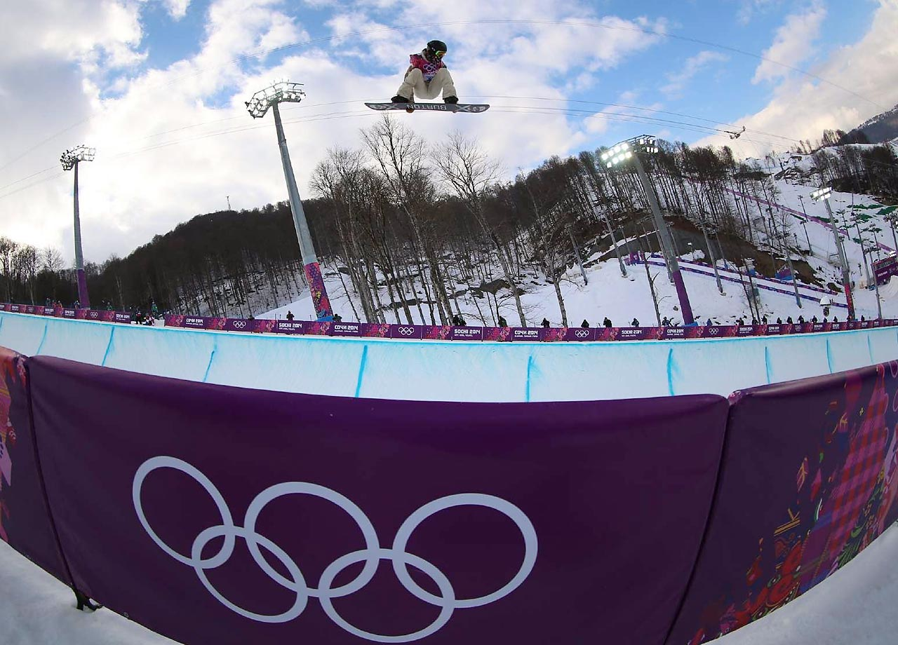 Shaun White in the halfpipe.