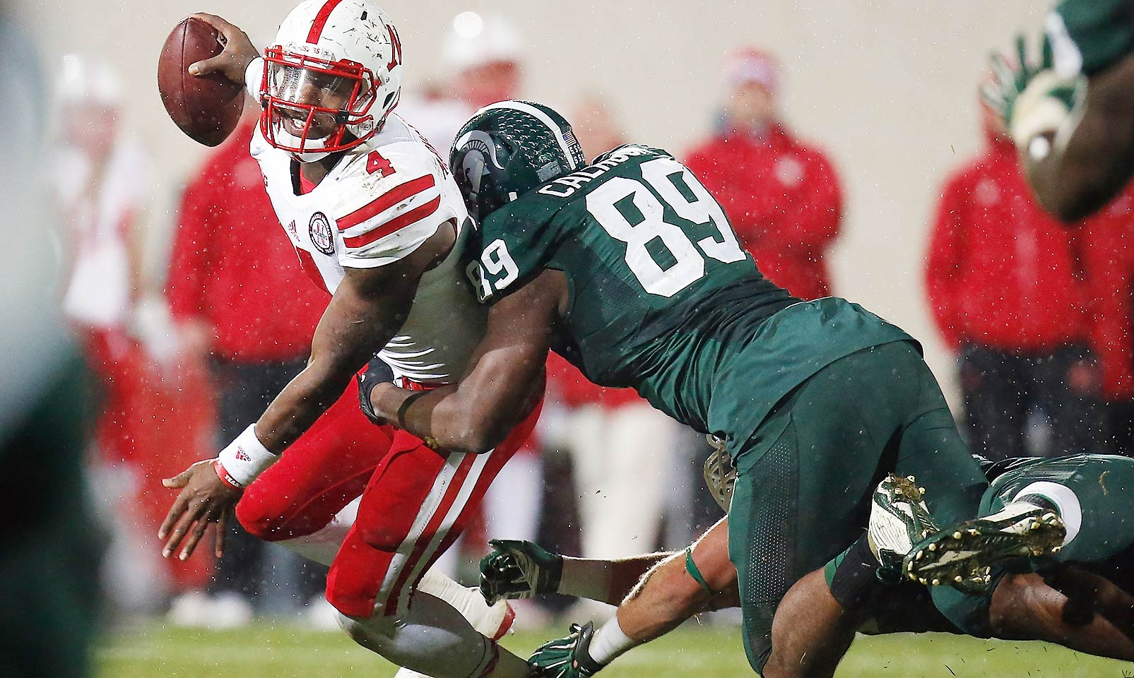 Calhoun enters his final season as one of the lynchpins of Michigan State's stellar defense. The defensive lineman is a menace in the backfield as evidenced by his eight sacks and 12.5 tackles for loss in 2014.