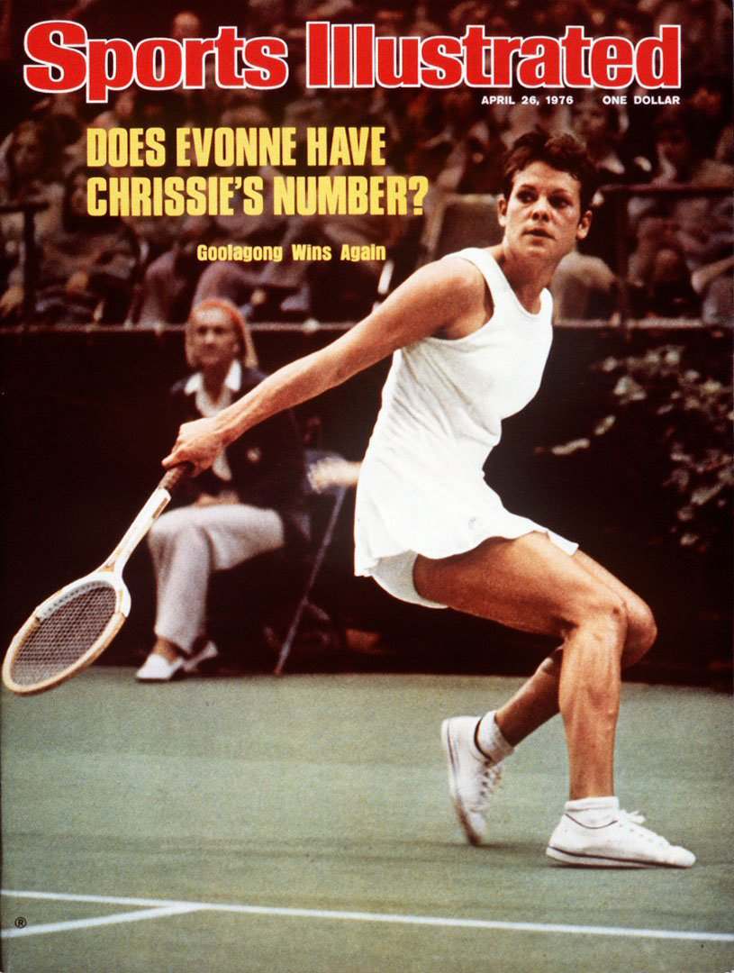 Australia Evonne Goolagong Cowney on the cover of SI during the Finals at LA Memorial Sports Arena.