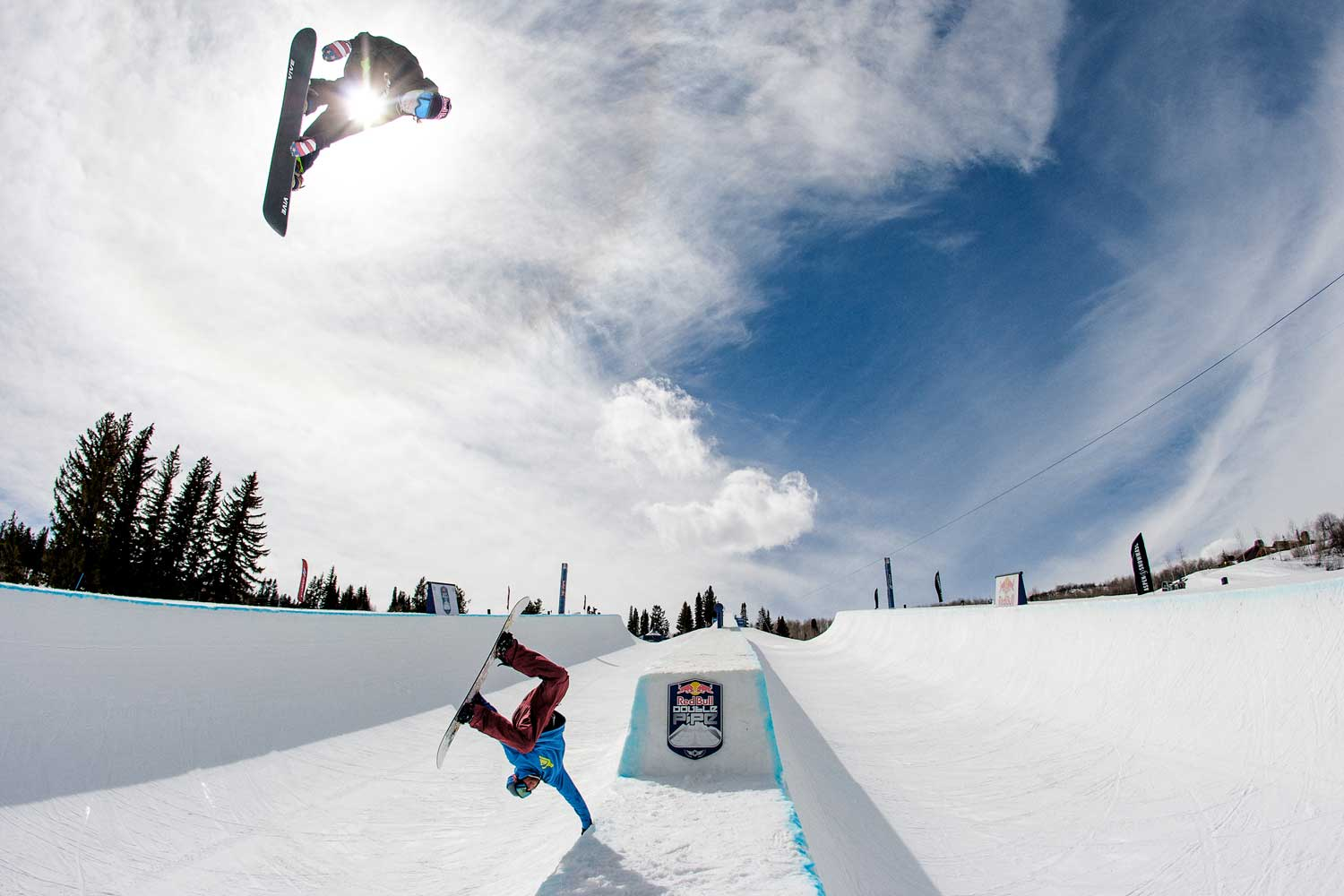 Louie Vito getting ready for action during a practice at the 2014 Red Bull Double Pipe.