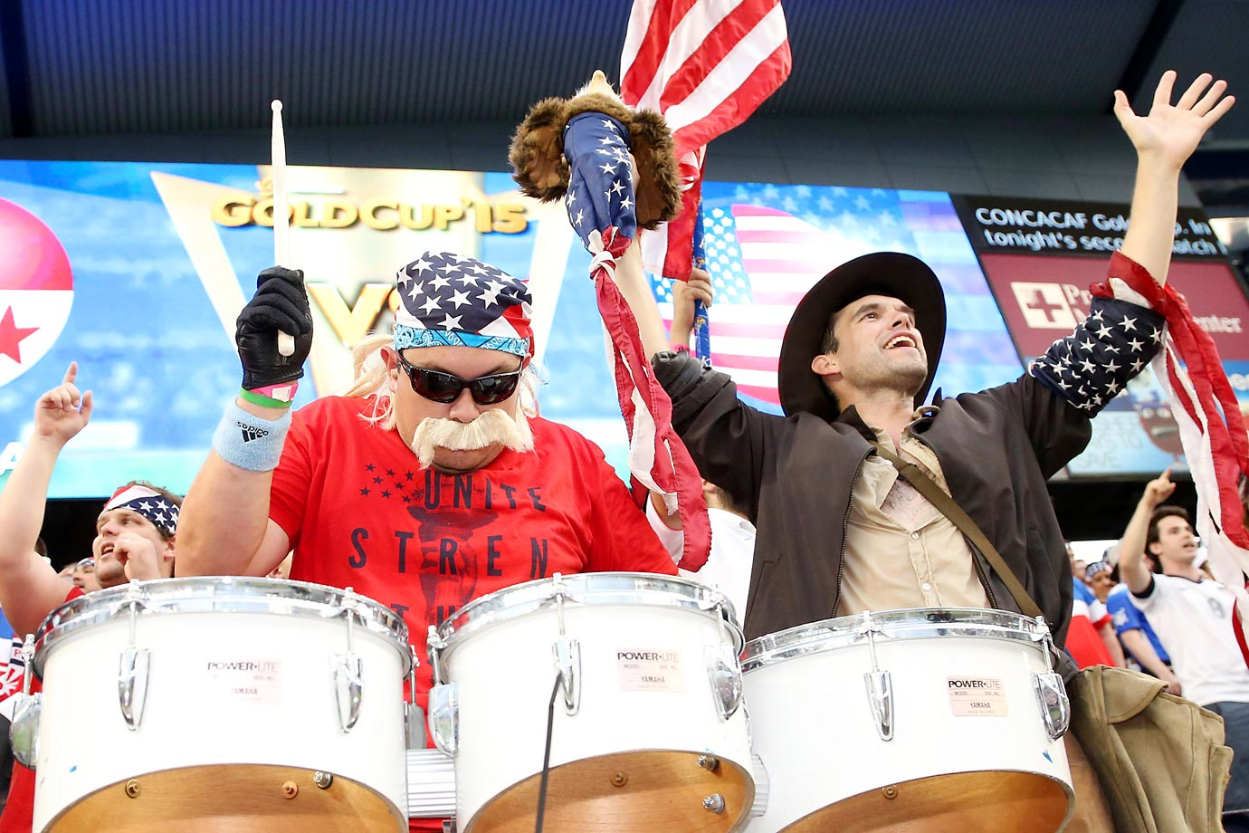 U.S. fans at the Men's National Team's game against Panama in Kansas City, Kansas.