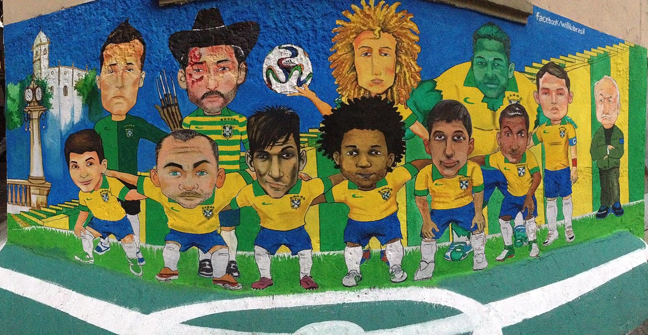 Soccer Inspired Graffiti And Murals In Rio