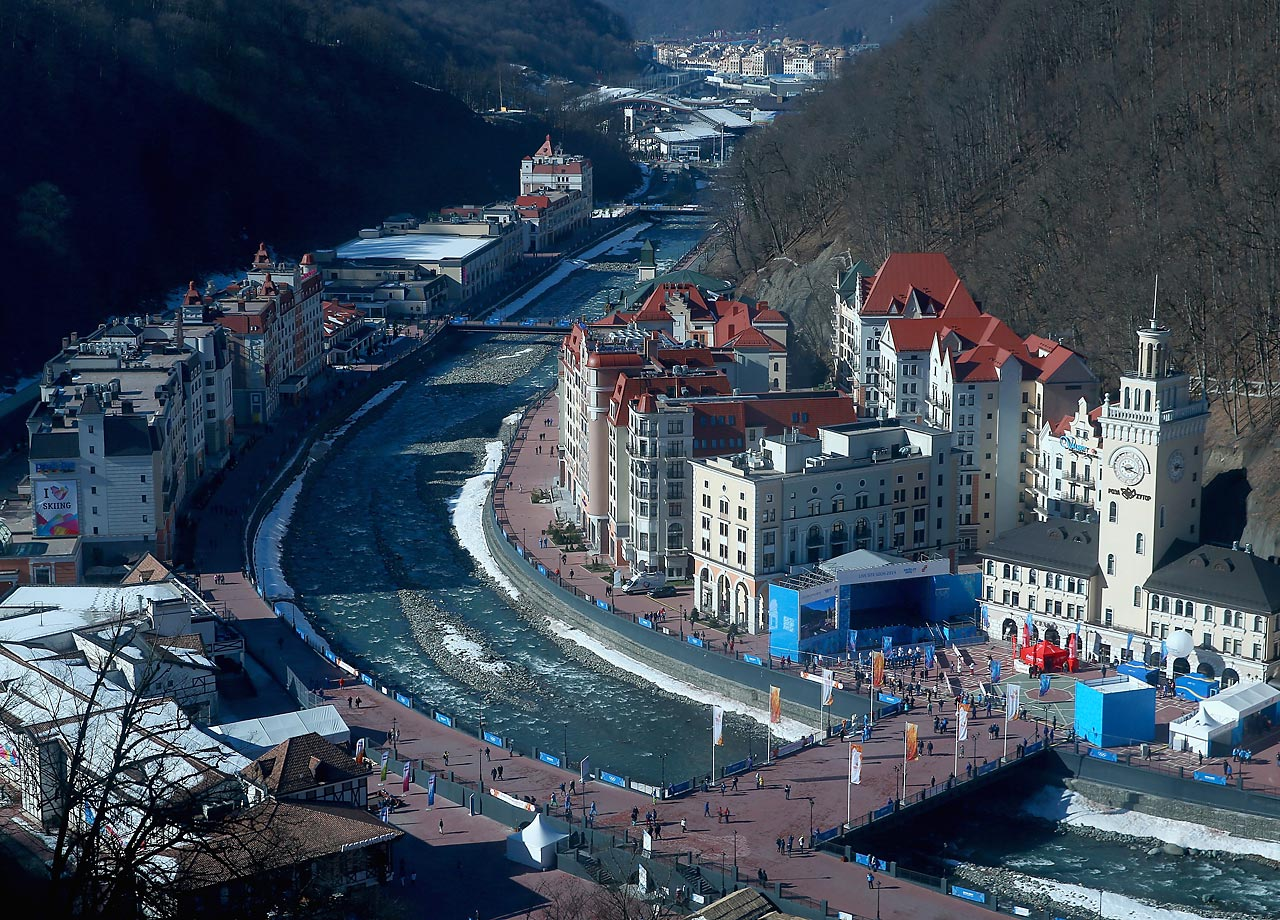 A general view of the Rosa Khutor Alpine Village.