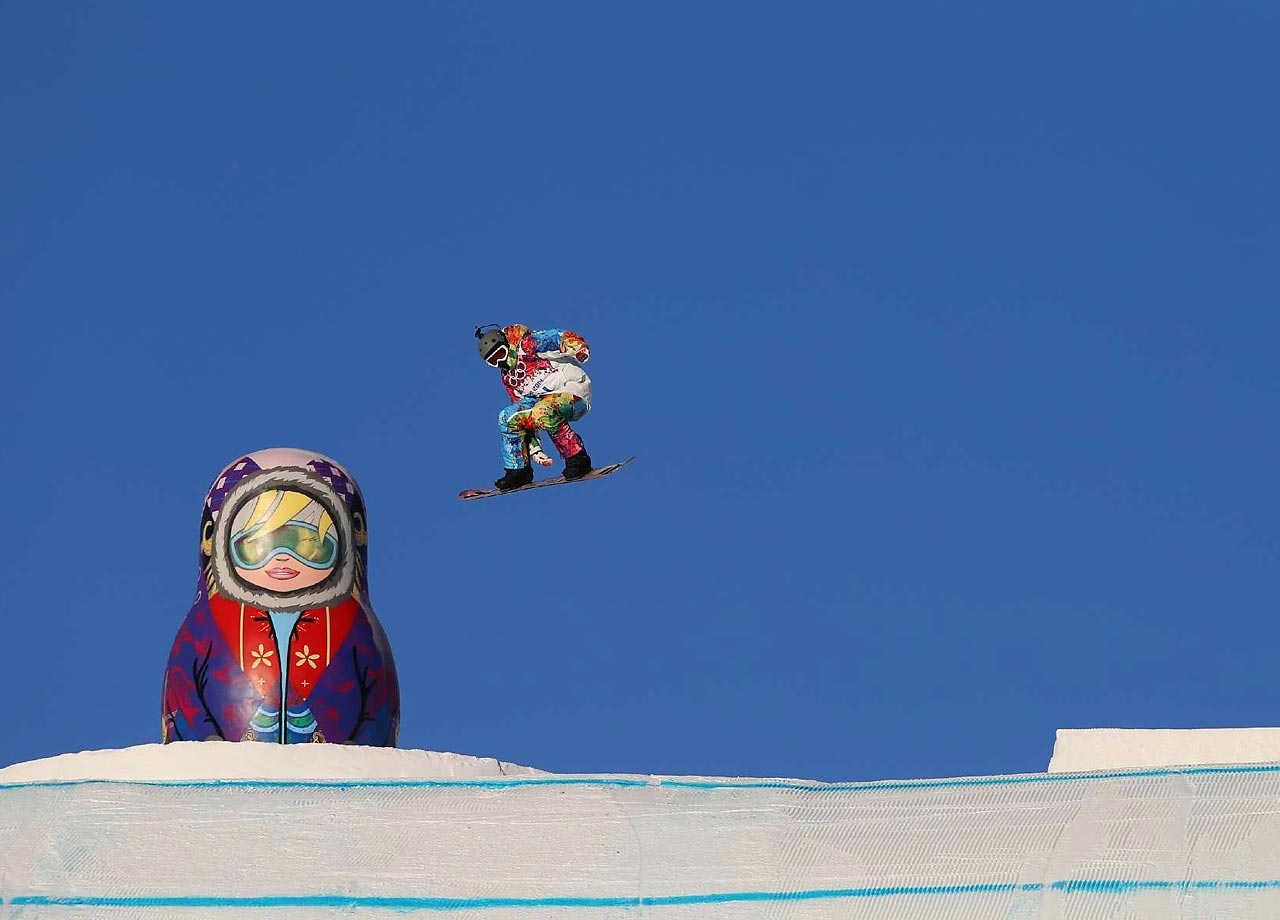 The Snowboard Slopestyle is one of the first events being held.