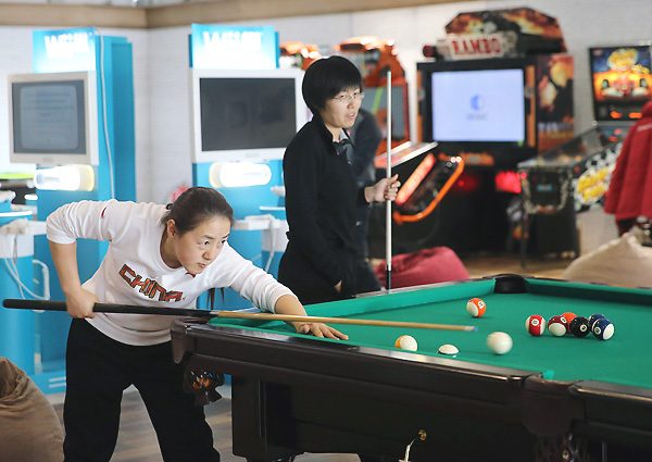 Athletes have access to a game room with a pool table and Nintendo Wii games among other activities.