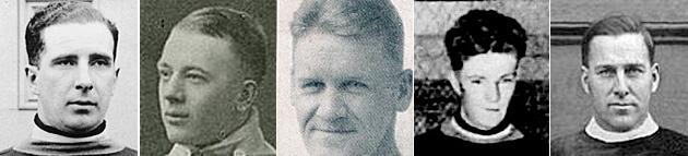 """Sprague Cleghorn, Alf Skinner, Emory """"Spunk"""" Sparrow, Fern Headley, Dunc Munro"""