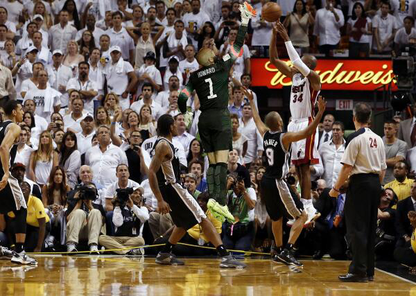 Ray Allen's 3-pointer against the Spurs in 2013 NBA Finals