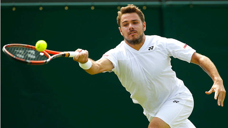 Stan Wawrinka coasted past Denis Istomin in straight sets to advance to round four at Wimbledon.