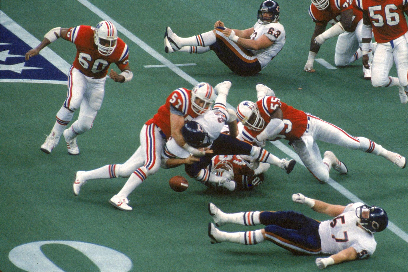 Nelson (57) was a three-time All-Pro and only missed three games in his 14-year NFL career. The linebacker was twice named Team MVP and was part of the defense that led the Pats to Super Bowl XX.