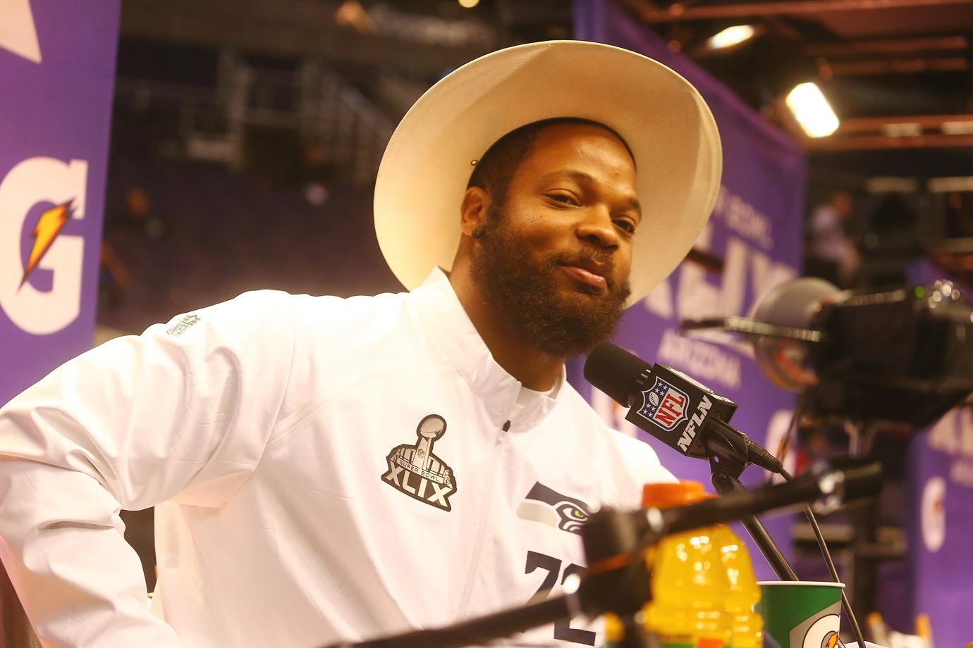 Michael Bennett was a quote machine at media day.