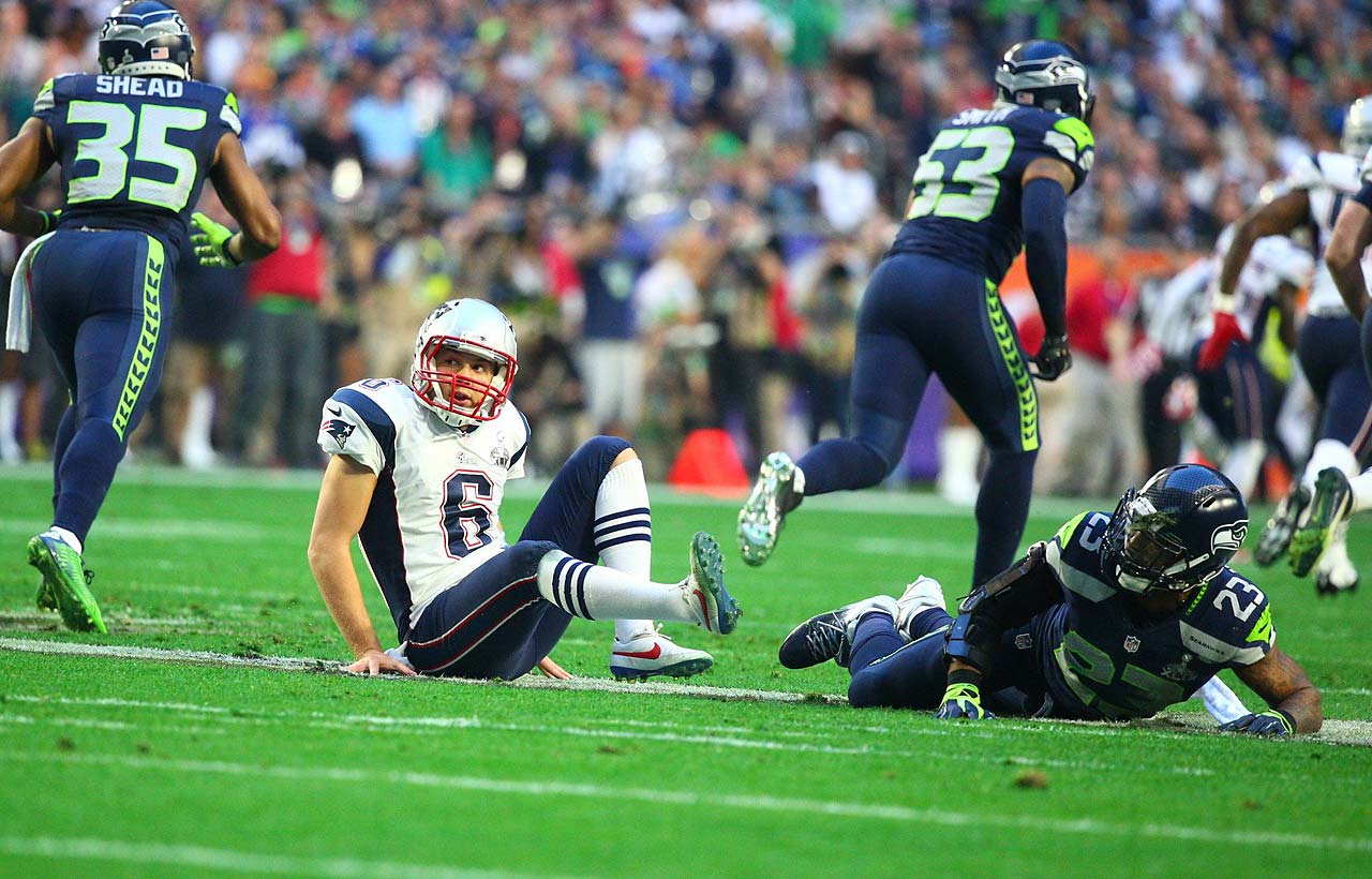 Seattle was flagged for hitting Ryan Allen but it wasn't a 15-yarder and a first down.