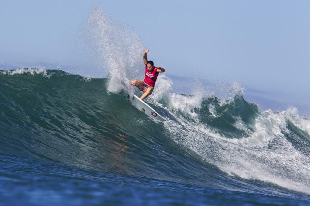 Tyler Wright of Australia surfs during the quarterfinals at the Swatch Women's Pro.