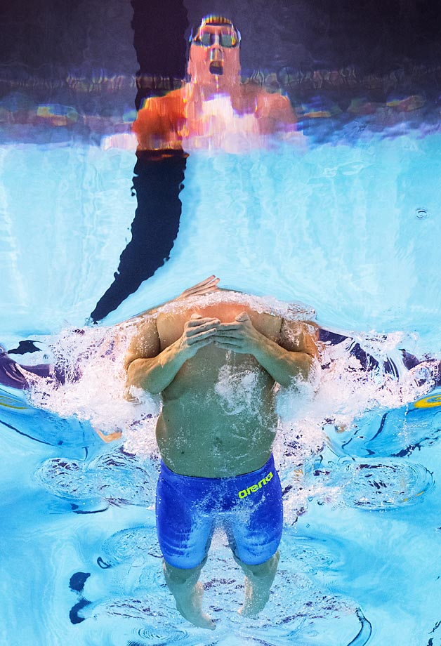 Marco Koch in the 200m breaststroke final at the FINA World Championships.