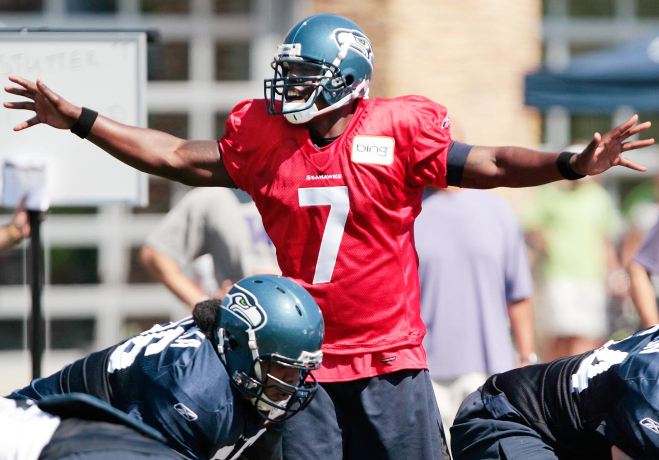 Tarvaris Jackson closed out his time in Seattle with 3,091 yards and 14 touchdowns in 2011, but the dual acquisitions of Matt Flynn as a free agent and Russell Wilson from the draft meant his future there was bleak. It wasn't much better in Buffalo, where he didn't see the field once in 2012 as the Bills' third-string QB. Buffalo released him in June 2013.