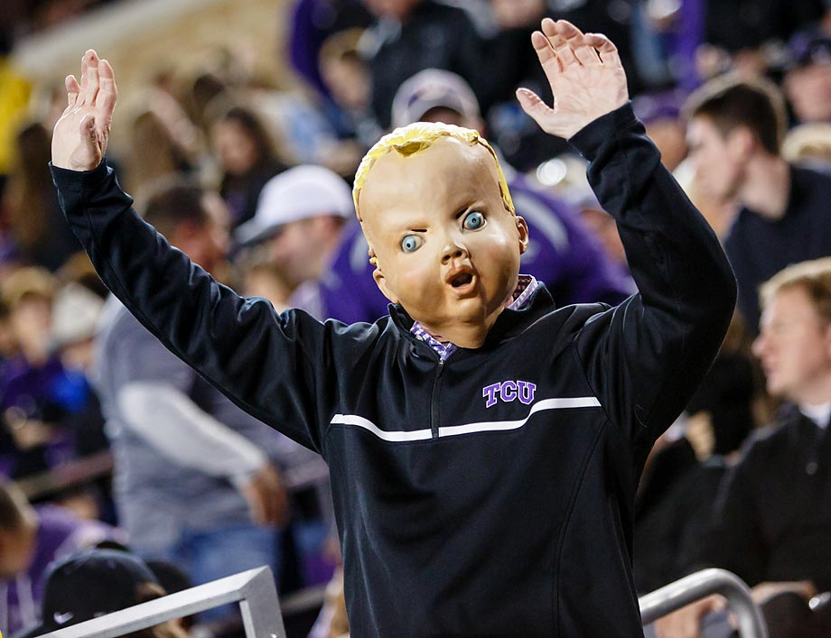 A TCU fan at the game against Kansas State.