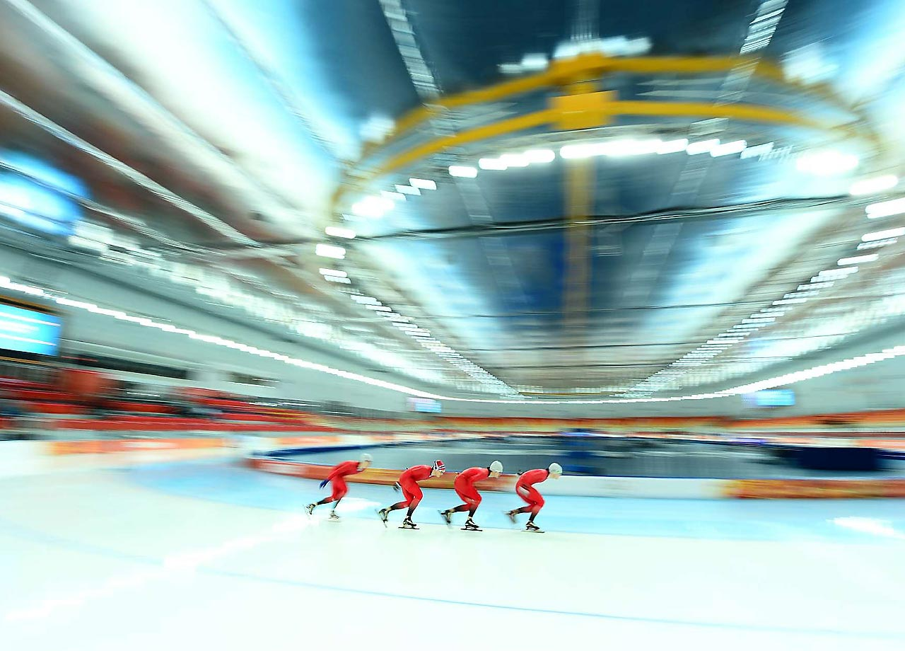 View of the Woman's Team Pursuit Semifinals where the Netherlands won the gold in the final, Poland won the Silver and Russia won the Bronze.