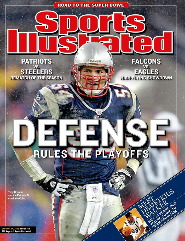 An imposing presence at linebacker during the 2000s, Bruschi led the Patriots to three titles while compiling 1,100 tackles and 30 sacks. After suffering a stroke in 2005, Bruschi was sidelined for an entire year before returning to football. He would win the AP NFL Comeback Player of the Year Award the following season.