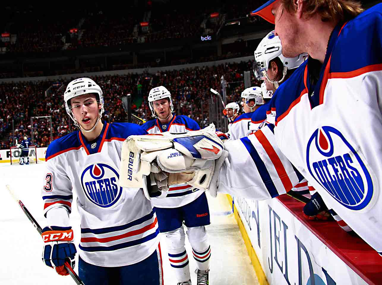 A deft playmaker, the top pick of 2011 tied for first in rookie scoring (18-34-52 in 62 games) but finished second behind Colorado's Gabriel Landeskog, 19, for the Calder, only the third time teens were 1-2 in the voting, and first since Bryan Berard and Jarome Iginla in '97. Three others earned votes: Hurricanes defenseman Justin Faulk, 19, Flyers center Sean Couturier, 19, and Devils blueliner Adam Larsson, 19.