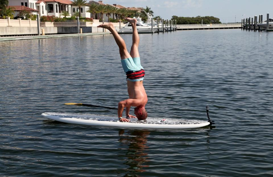 When he's not out working on the practice field at One Buc Place in Tampa, Florida, placekicker Connor Barth likes to spend his time working out on his paddleboard.