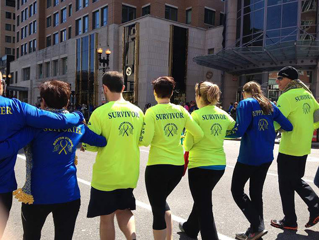 "The members of "" 415 Strong"" are running the Boston marathon on Monday, two years after the terrorist attack that changed all of their lives."