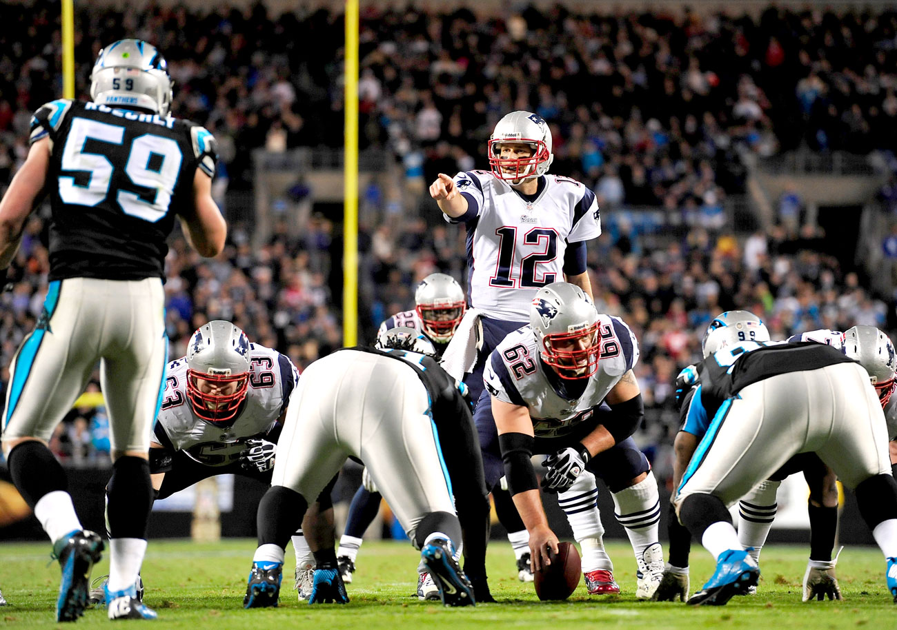 The MMQB consensus is a Patriots-Panthers Super Bowl; they met in November 2013, a 24-20 Carolina win.