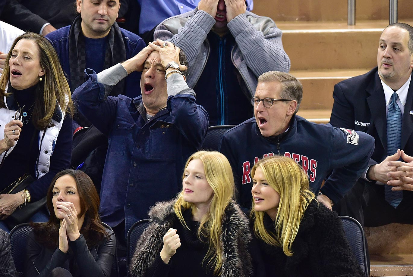 Brian Williams really did attend the Rangers game with Tom Hanks… The Rangers beat the Bruins 3-2.